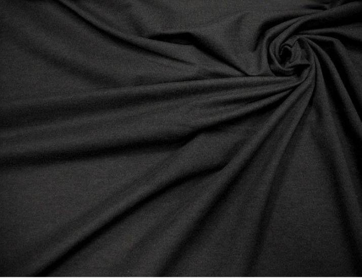 Трикотаж вискозный цвет черный
