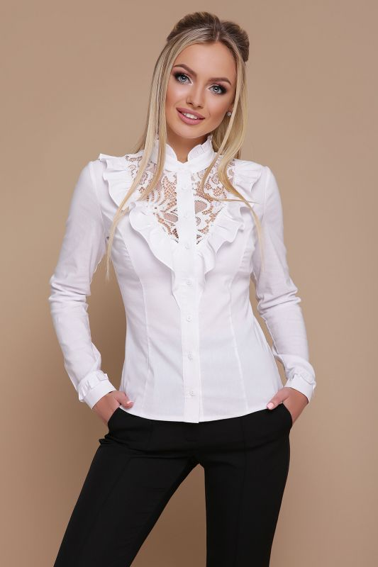 Коттон рубашка цвет белый