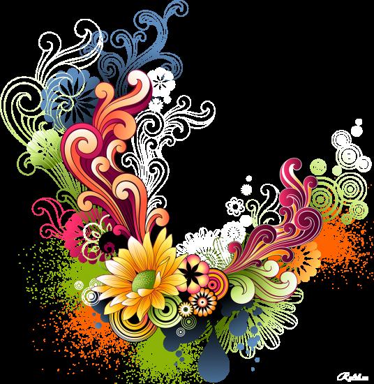 Сублимации Цветы рисунок