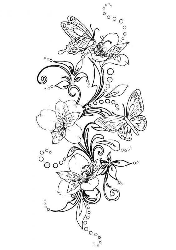 Сублимации Бабочка чёрнобелая 1