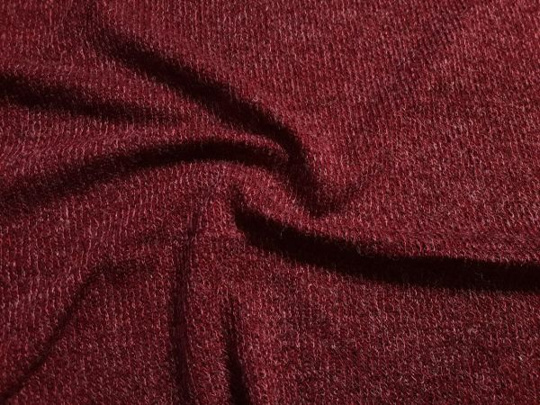 Трикотаж  ангора резинка цвет бордо