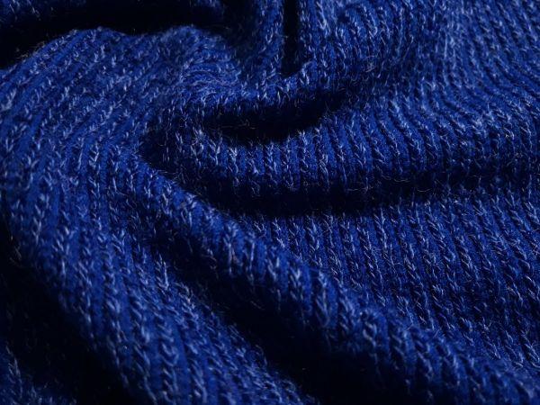 Трикотаж  ангора резинка цвет синий электрик