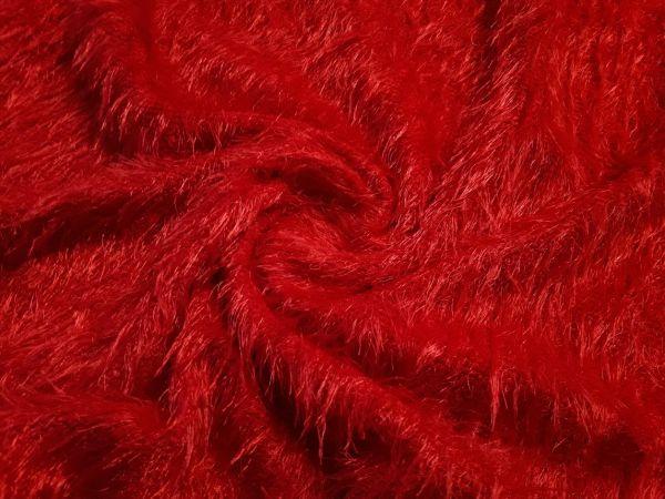 Трикотаж травка цвет красный