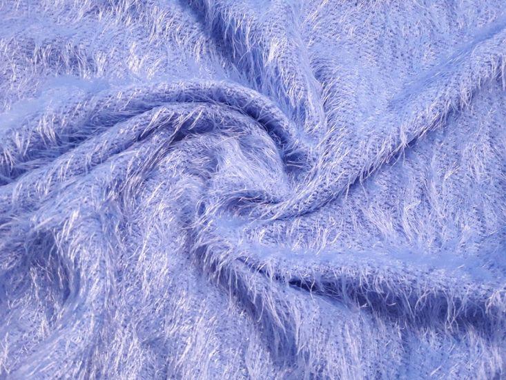 Трикотаж травка цвет голубой васильковый