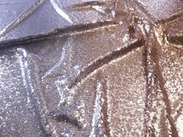 Пайетка градиент на трикотажной сетке цвет серебро + золото