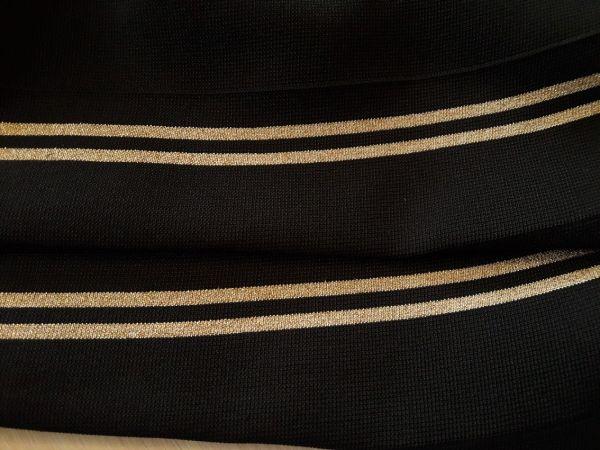 манжеты цвет чёрный (2 полосы люрекс золото)