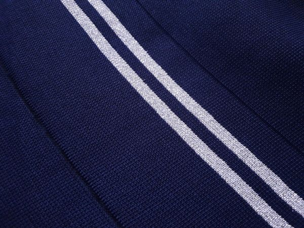 манжеты цвет тёмно синий (2 полосы люрекс серебро)