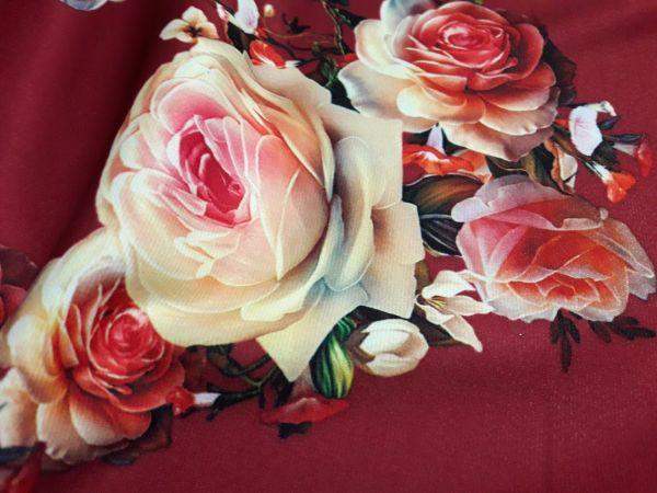 Трикотаж мис Мария розы фон бордо