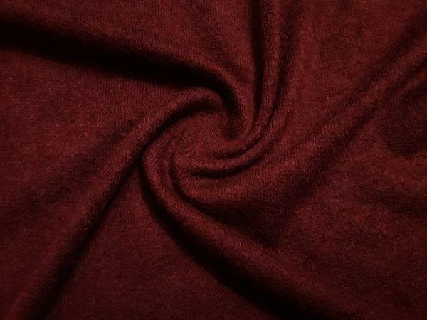 Трикотаж  ангора арктика цвет бордо