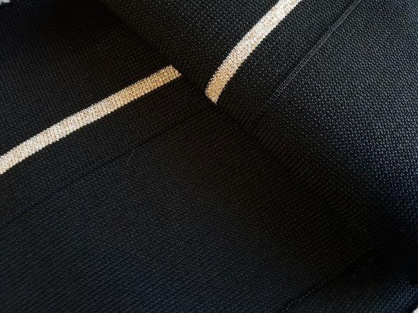 манжеты цвет чёрный одна полоса люрекс золото