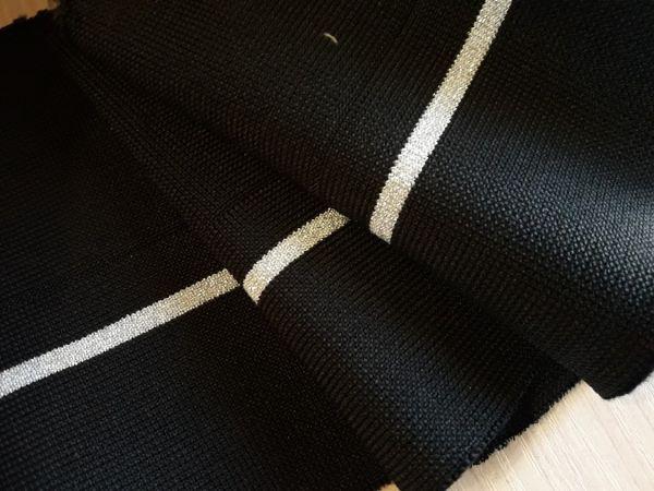 манжеты цвет чёрный одна полоса люрекс серебро