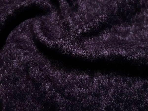 Плательный меланж с ворсом цвет баклажан