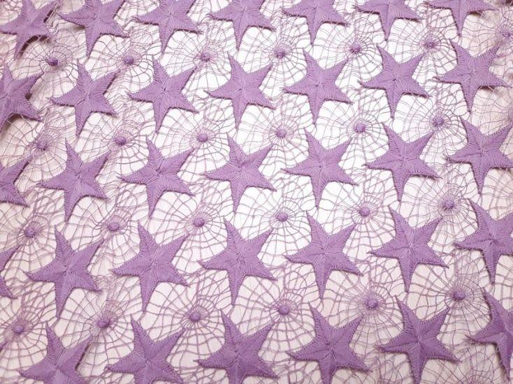 Макраме звёзды цвет лиловый