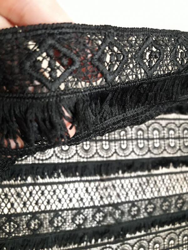 Макраме бахрама цвет чёрный