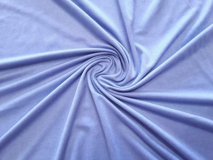 Трикотаж замш цвет голубой васильковый