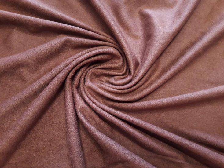 Трикотаж замш цвет светло коричневый (молочный шоколад)