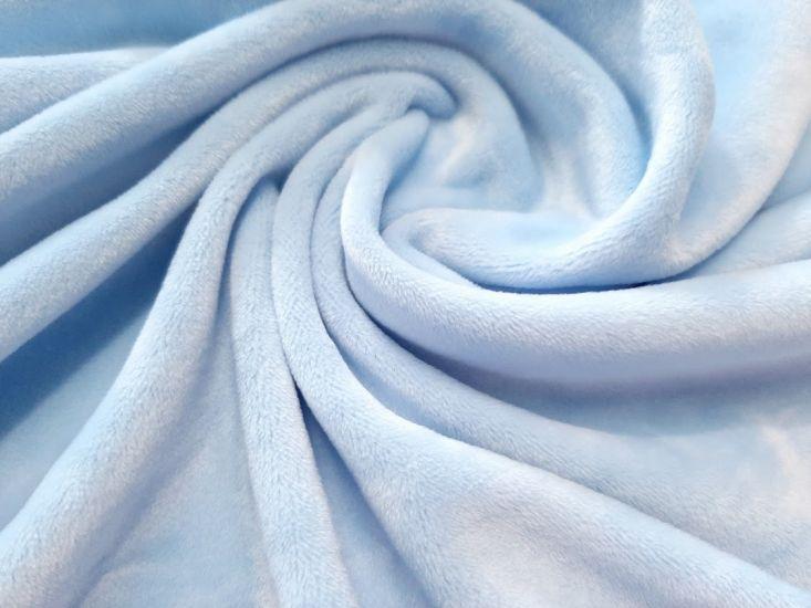 Велюр суперсофт би-стрейч плюшевый цвет небесно голубой