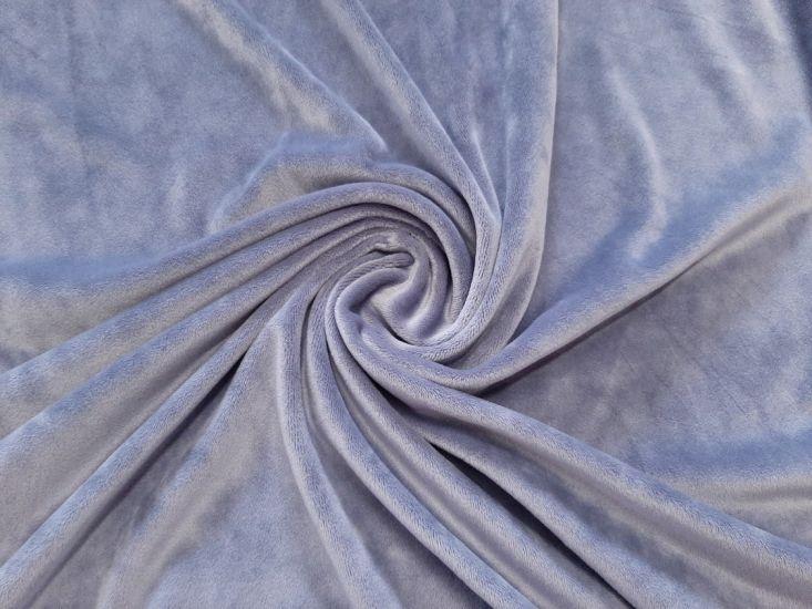 Велюр суперсофт би-стрейч плюшевый цвет серый стальной
