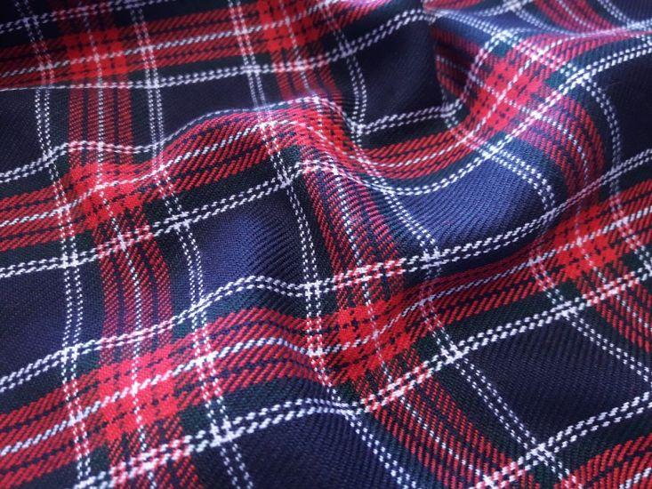 костюмка шерсть клетка шотландская цвет синий красный зелёный