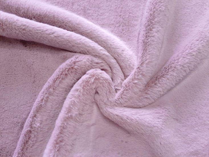 Мех искусственный кролик цвет пыльная роза