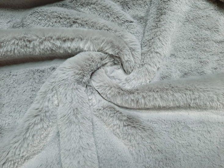 Мех искусственный кролик цвет светло серый
