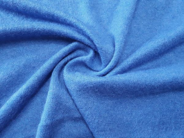 Трикотаж  ангора арктика цвет голубой джинс