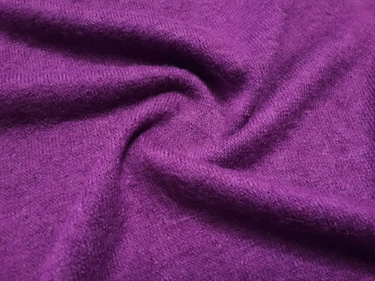 Трикотаж  ангора арктика цвет фиолетовый