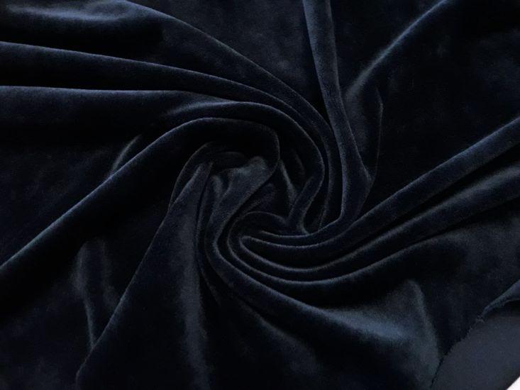 Велюр суперсофт би-стрейч плюшевый цвет чёрный