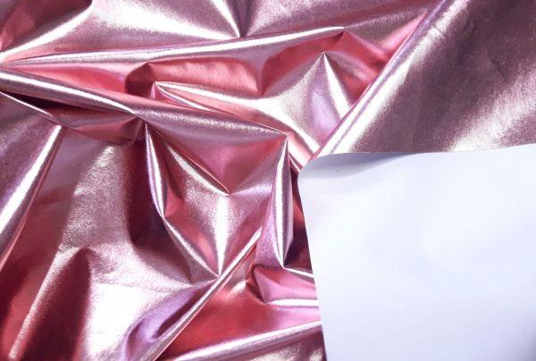 Плащёвка фольга цвет розовый