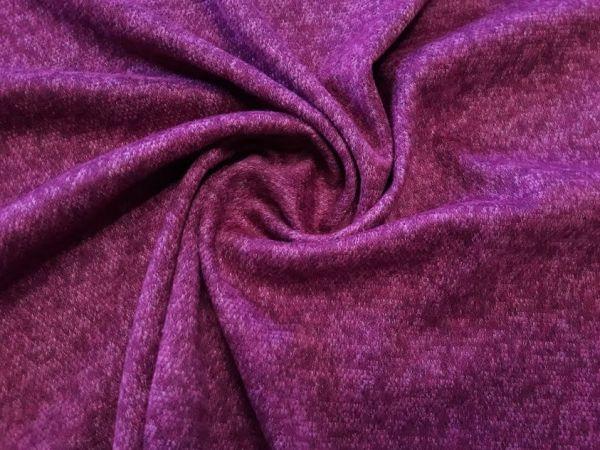 Плательный меланж с ворсом цвет сливовый