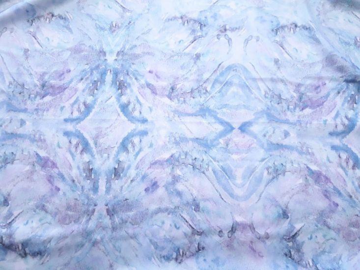 Шелк Дольче Габбана принт цвет небесно голубой