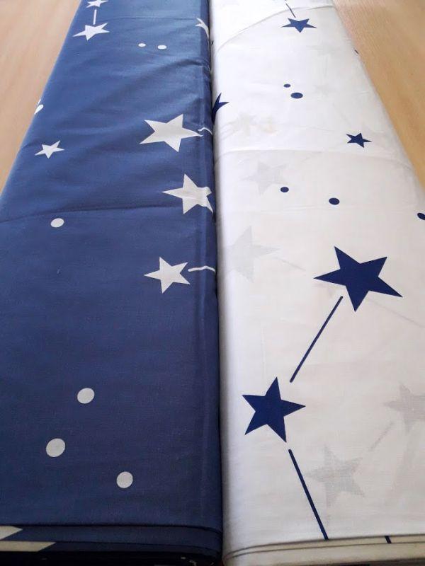Постільна тканина бязь Gold lux принт сузір'я білий компаньйон відріз 2,6м