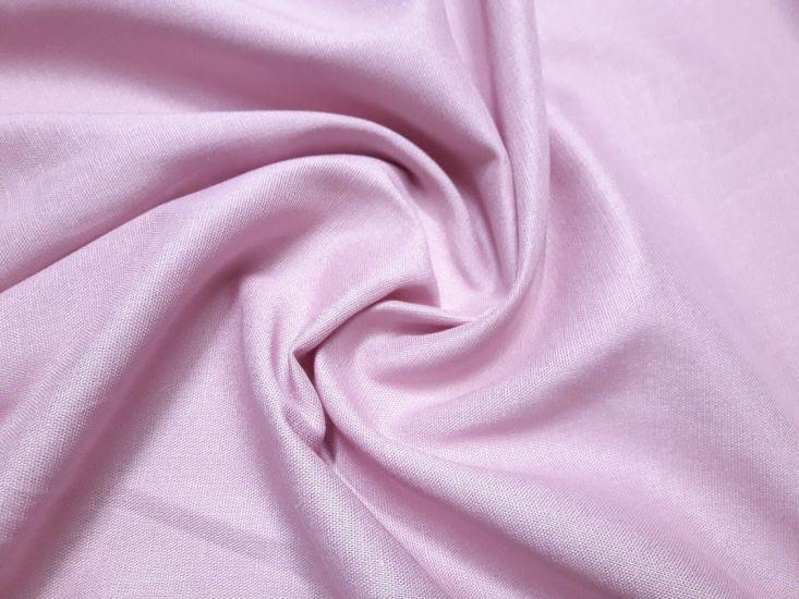 Лен стрейч однотонный цвет пыльная роза 8022