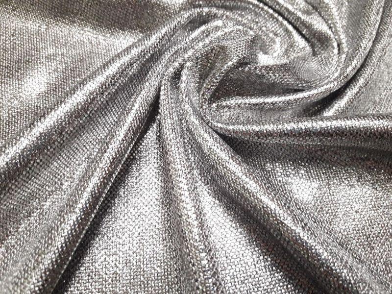 Трикотаж люрекс H&M напыление серебро 1786