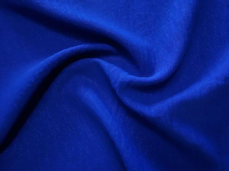 Американский креп люрекс цвет синий электрик
