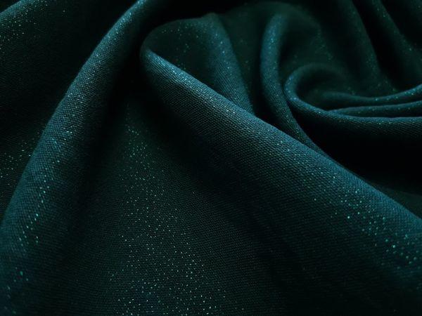 Американский креп люрекс цвет тёмно зелёный
