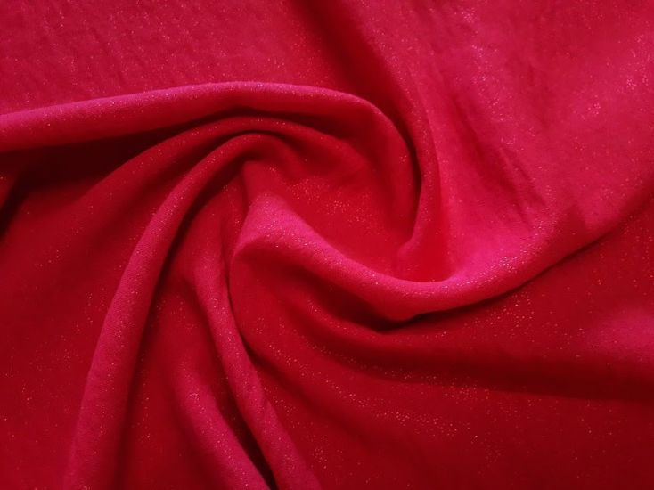 Американский креп люрекс цвет красный