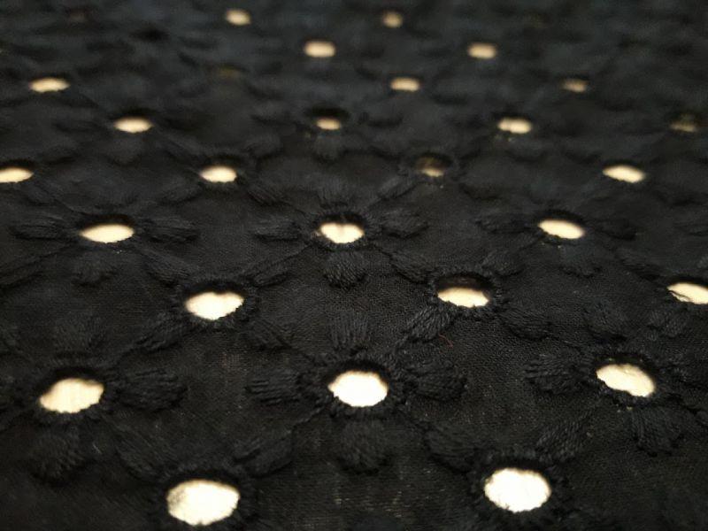 Батист вышитый (прошва) дизайн 3-4 цвет черный