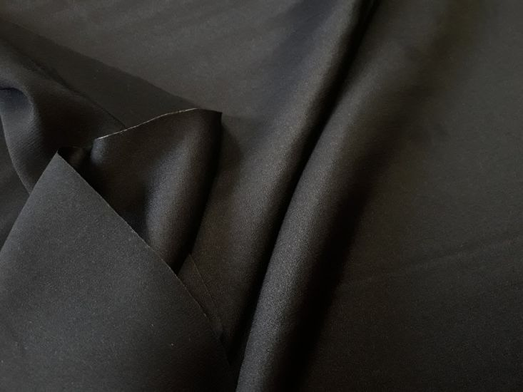 Шелк Армани полированный цвет чёрный