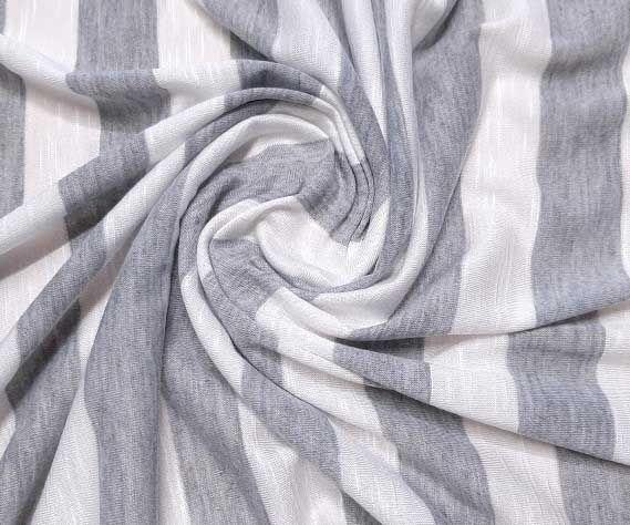 Вискозный трикотаж полоска 2,5см цвет серый белый