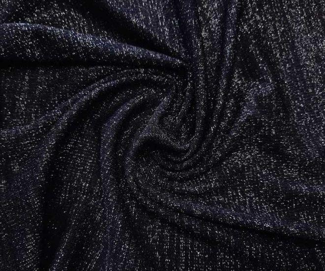 Трикотаж резинка люрекс цвет чёрный