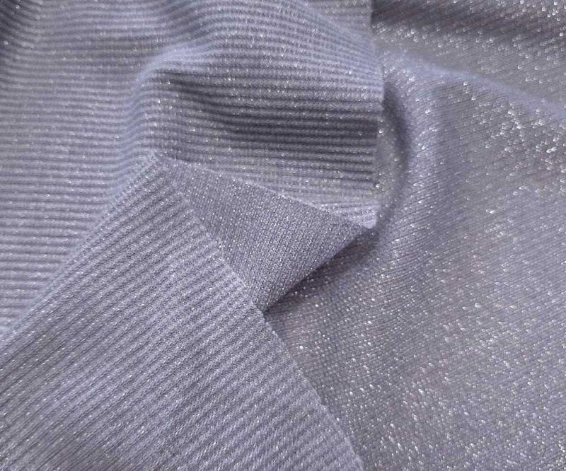 Трикотаж резинка люрекс цвет серый