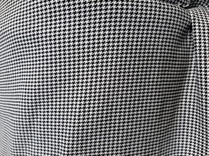 Трикотаж костюмный TR принт мелкая гусиная лапка