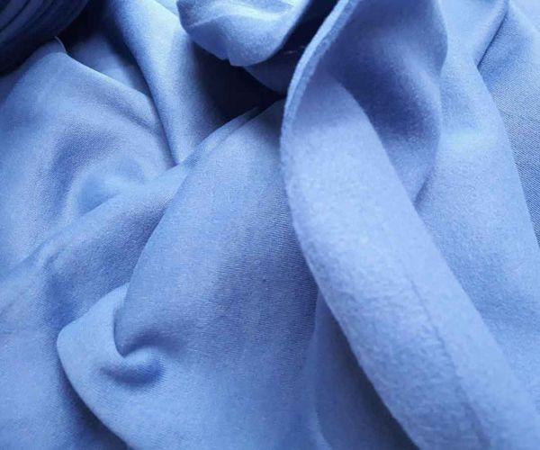 Трехнітка на флісі колір запорошений блакитний відріз 0,9м