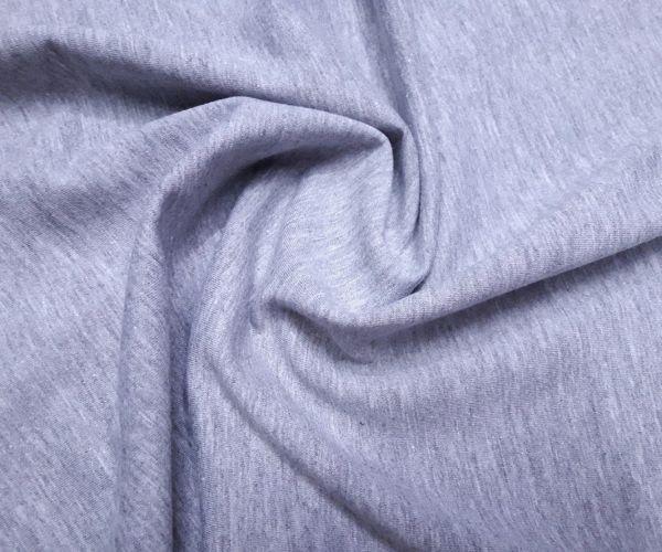 Двухнитка хлопок стрейч цвет серый меланж