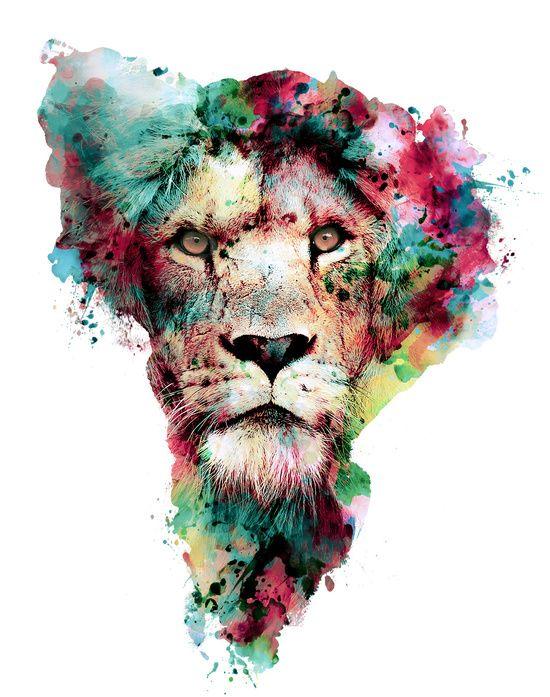 Сублимации лев африка