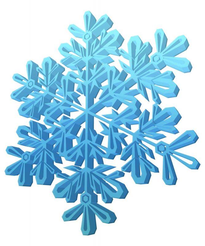 Сублимация снежинка 3д