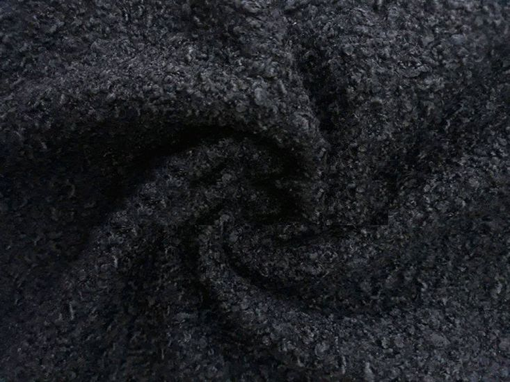 пальтовая ткань барашек цвет чёрный