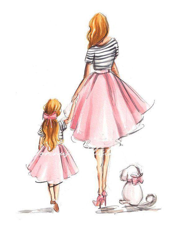 Сублимация мама дочка 5659