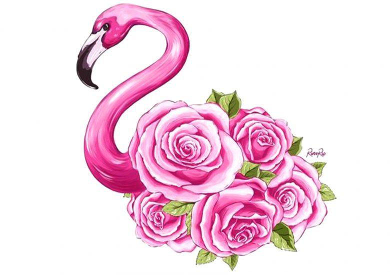 Сублимация фламинго в розах